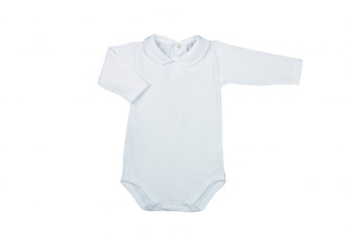Body neonato m/l con colletto in cotone bielastico
